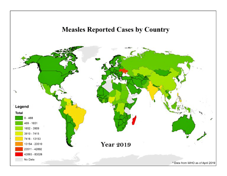 measles world map