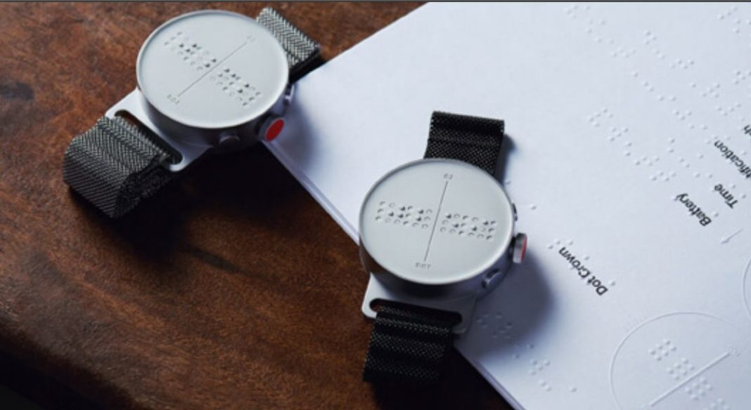 Braille wristwatch