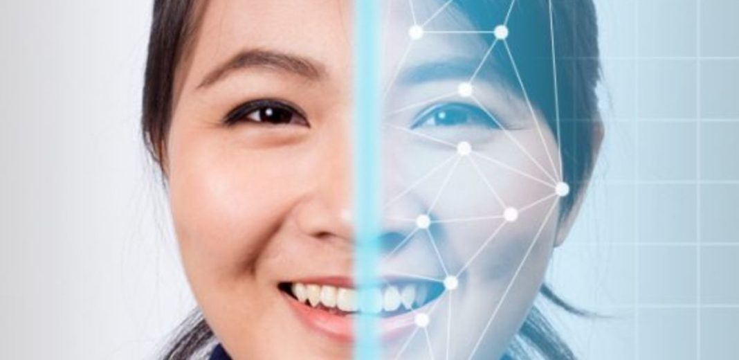 Facial recognition Chineses woman