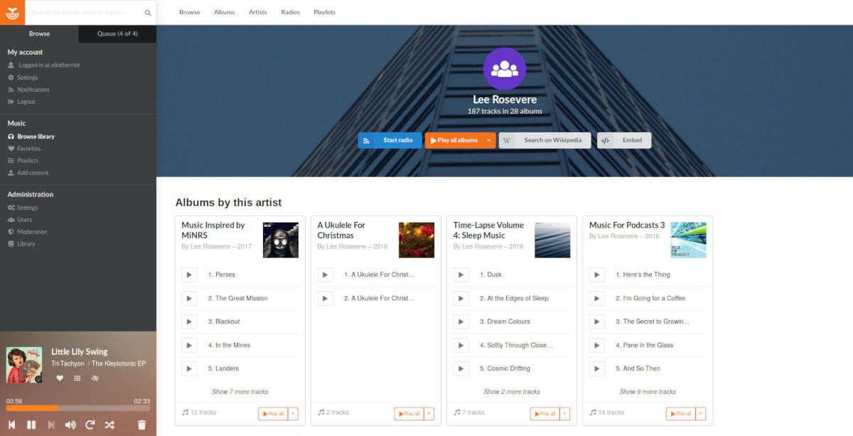Funkwhale music streaming service