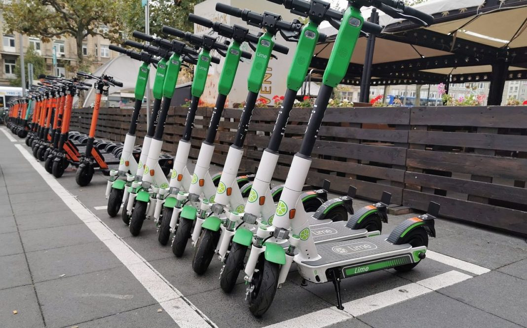 E-scooter renting