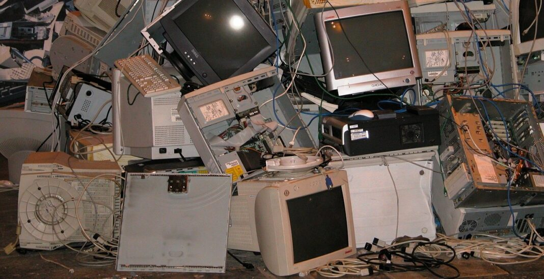 Old computers trashed