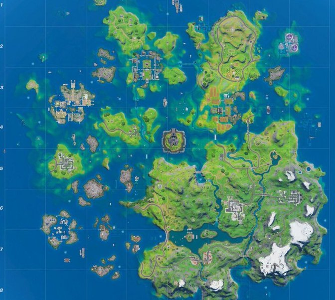 Fortnite Chapter 2 Season 3 map