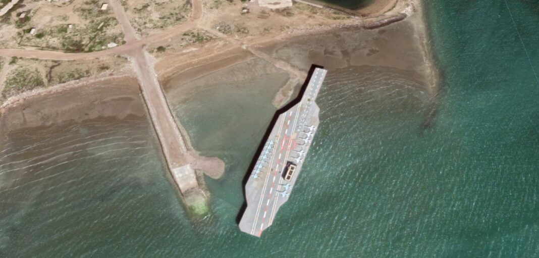 Iran replica of Nimitz carrier